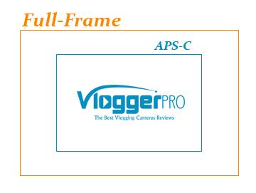 comparison between aps-c and full-frame sensor sizes - Vlogger Pro