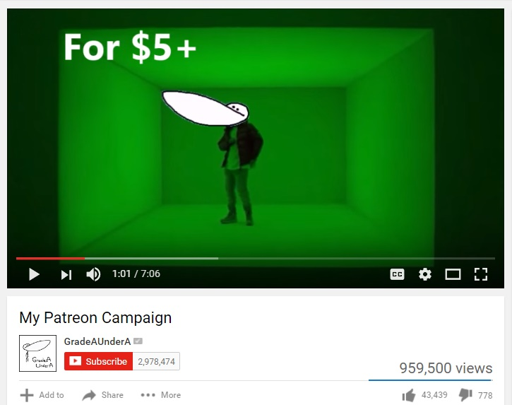 patreon campaign video example screenshot