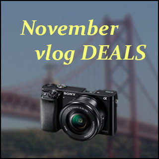 November Vlogging camera and gear deals article