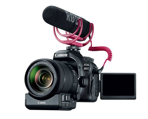 Canon eos 80D with vlogging equipment