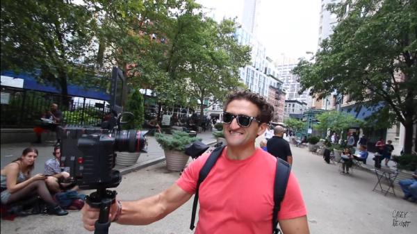 huge camera used for vlog recording