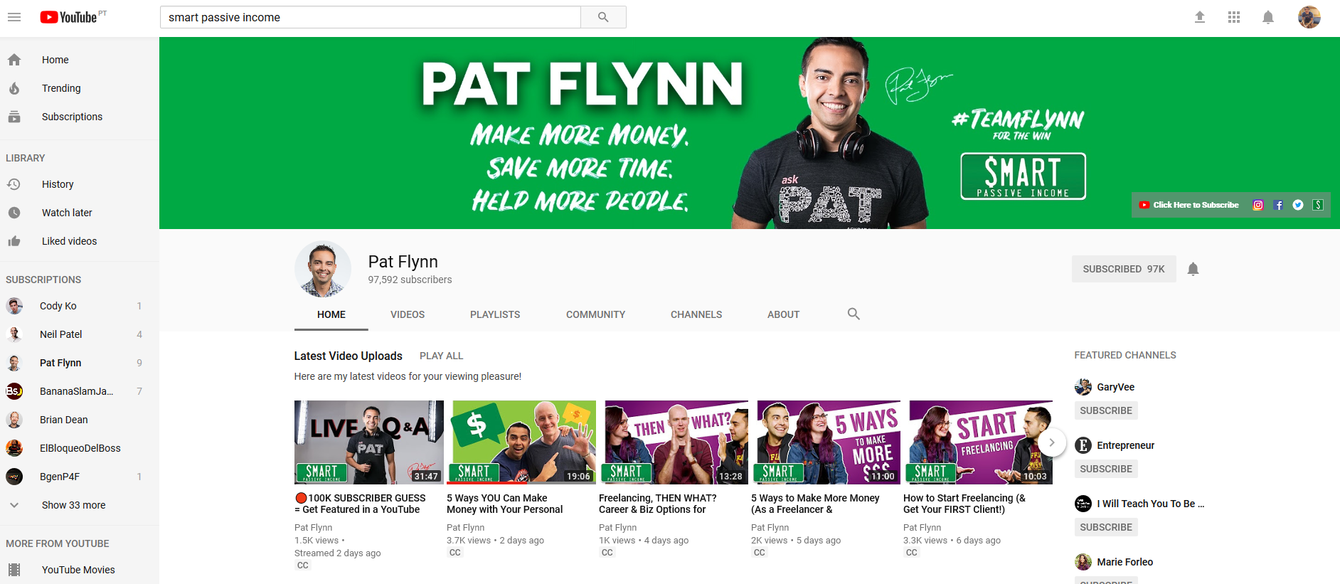 Nice youtube channel image brand