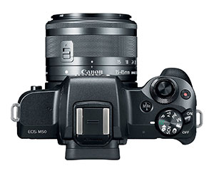 Hot shoe mount on the Canon EOS m50 to mount a microphone