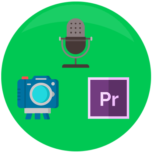 image showing a camera, editing software and microphone