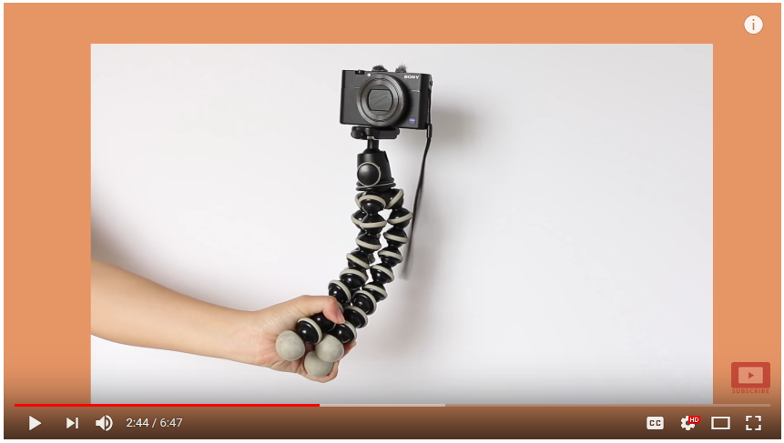 joby vlogging tripod