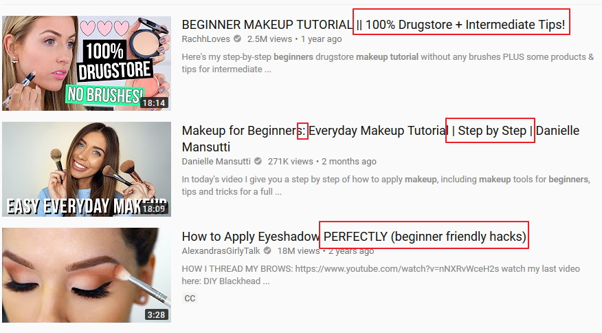 youtube video titles with symbols to attract more clicks