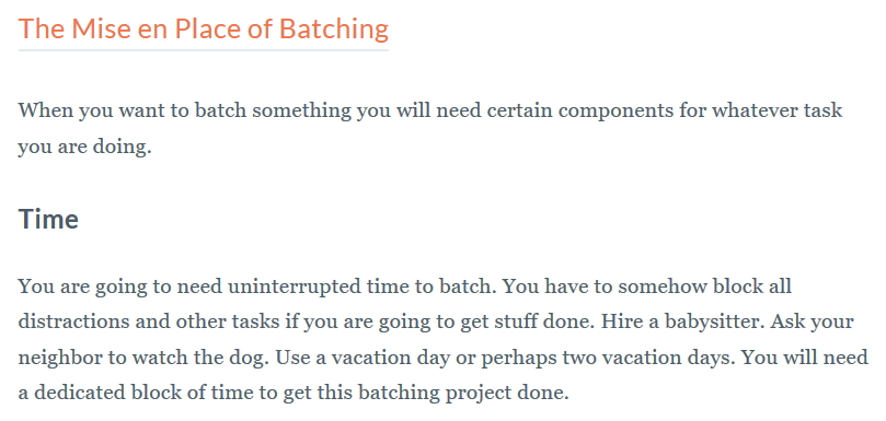 working in batches