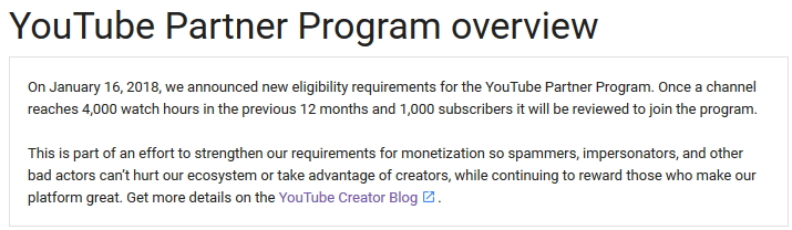 youtube partnership