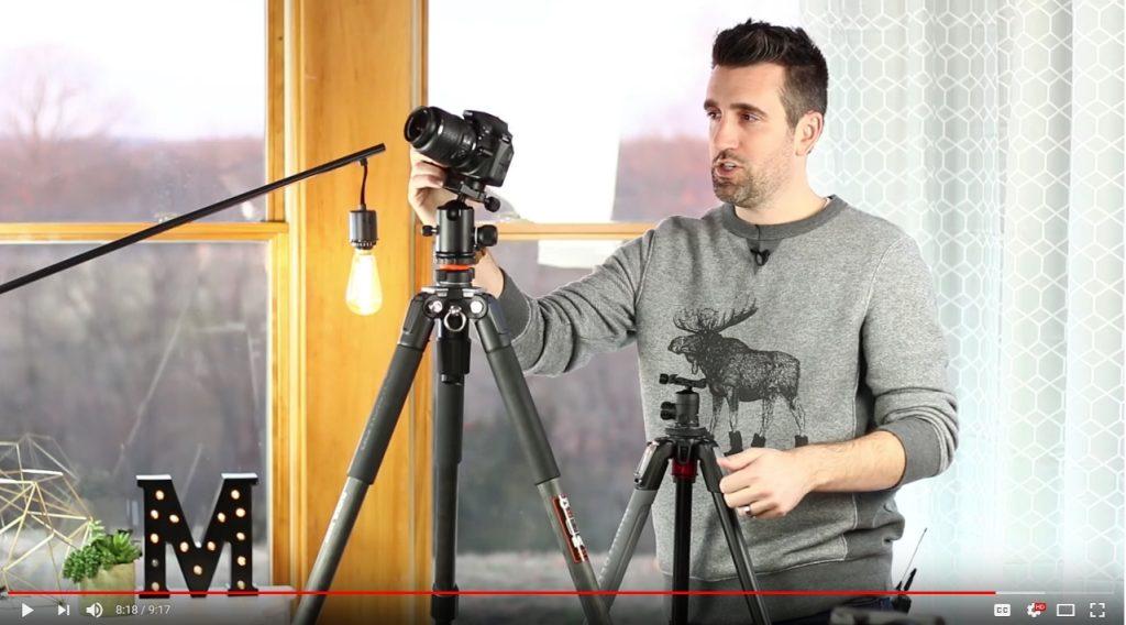 camera on a tripod