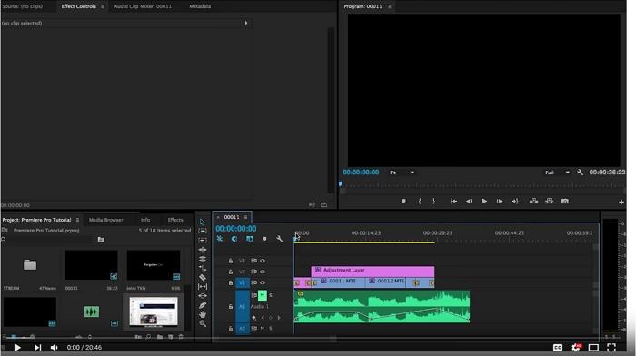 editing in adobe premiere