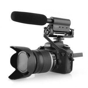 shotgun microphone mounted