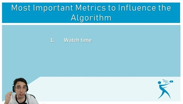 watch time as one of the most important metrics for the youtube algorithm