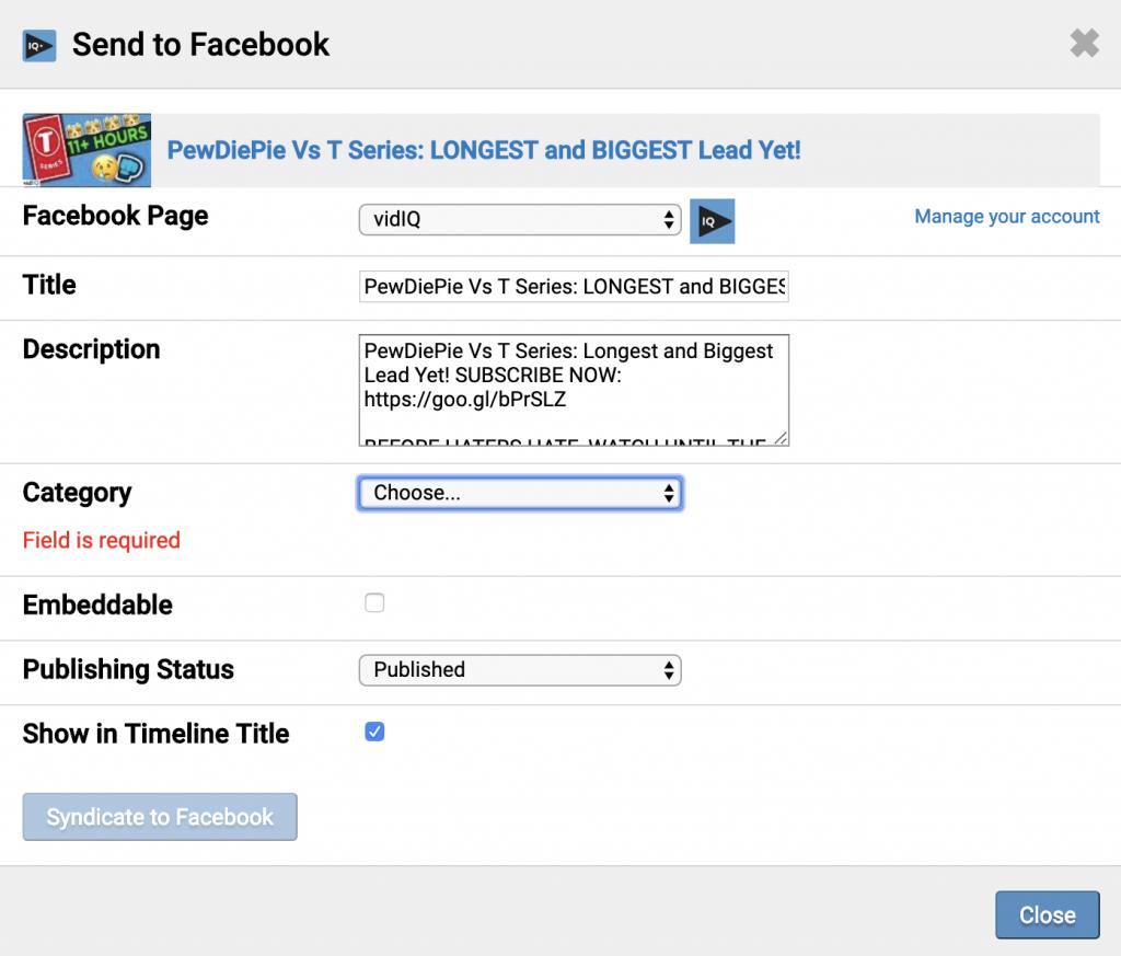facebook vidiq