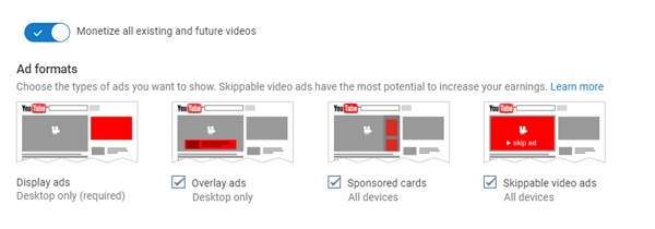 types of ads on youtube