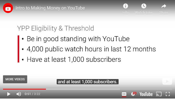 youtube partnership requirements